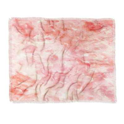 THROW BLANKET ART DECO PINK  BY ROSIE BROWN - Wander Print Co.