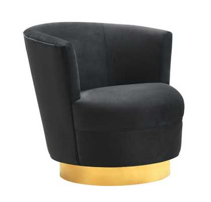 Raegan Black Swivel Chair - Maren Home