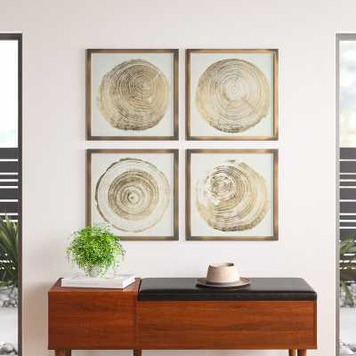 Cuore Legno' - 4 Piece Picture Frame Graphic Art Print Set on Paper - AllModern