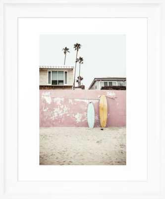 Vacay Framed Art Print - Scoop White Frame - Society6