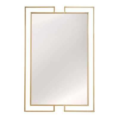 Indrani Gold Finish Frame Rectangular Wall Mirror by iNSPIRE Q Bold - Large - Overstock