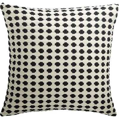 Estela black and white matlesse pillow with feather-down insert - CB2
