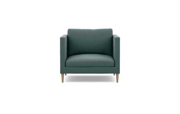 Oliver Chairs in Mist Fabric with Natural Oak Tapered Round Wood - Interior Define