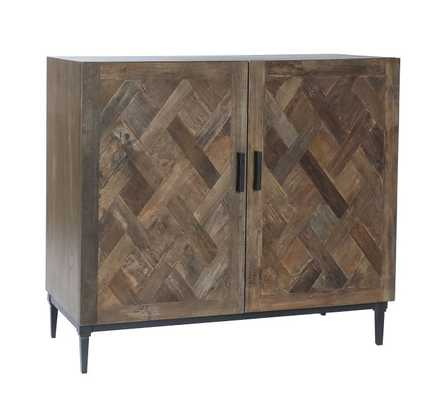 """Parquet Reclaimed 39"""" Wood Cabinet Buffet - Pottery Barn"""