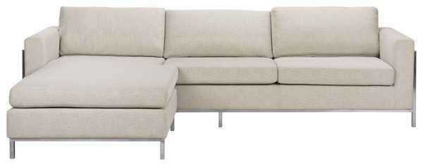 Camila Poly Blend Sectional - Off White - Arlo Home - Arlo Home