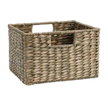 Charleston Basket Utility, Square - Gray - Pottery Barn