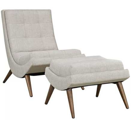 Bingaman Lounge Chair with Ottoman- Sand - AllModern