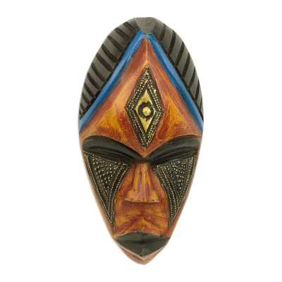 Jabu African Wood Mask - Wayfair