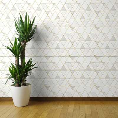"Clarkson Geometric Removable Peel and Stick Wallpaper Panel - 108"" x 24"" - Wayfair"