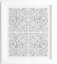 "GRAY MAZE White Framed Wall Art -8""x9.5"" - Wander Print Co."