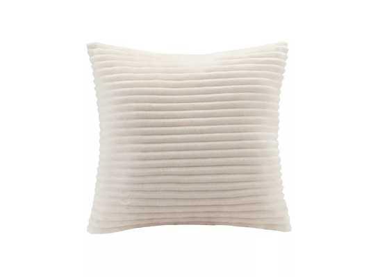 Williams Corduroy Plush Square Pillow Ivory - Target