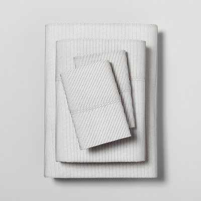 Sheet Set Organic Printed Microstripe - Hearth & Hand™ with Magnolia - Target