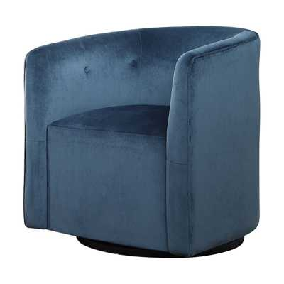 Mallorie Blue Swivel Chair - Hudsonhill Foundry