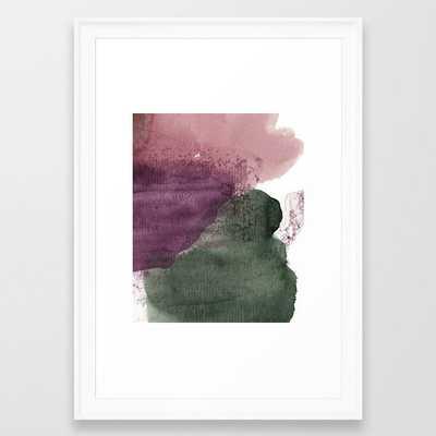 organic shapes Framed Art Print - Society6