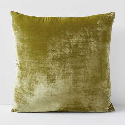 "Lush Velvet Pillow Cover, Wasabi, 20""x20"", Set of 2 - West Elm"
