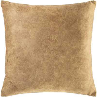 """Stow Pillow, Camel, 20""""x20"""" - Haldin"""
