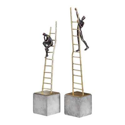 Ladder Climb Sculpture S/2 - Hudsonhill Foundry