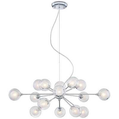 Possini Euro Design Glass Sphere 15-Light Pendant Chandelier - Lamps Plus