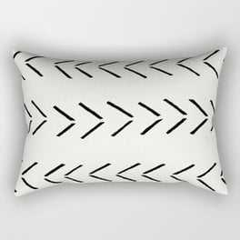 "white arrow mudcloth chevron Rectangular Pillow - Small (17"" X 12"") - Society6"
