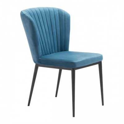 Tolivere Dining Chair Blue Velvet, Set of 2 - Zuri Studios