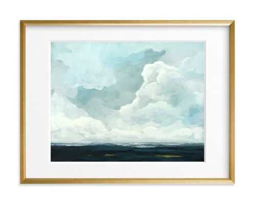 """Late in the Day - 18"""" x 24"""" - Gilded Wood Frame - Matted - Minted"""