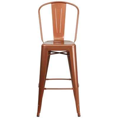 "Nailsworth 24"" Bar Stool - copper - Wayfair"