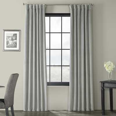 "Albert Velvet Solid Blackout Thermal Rod Pocket Single Curtain Panel 50""x96"" Silver Gray - Wayfair"