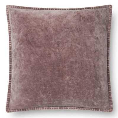 Loloi Rugs P0603 Square Cotton Velvet Throw Pillow - Hayneedle