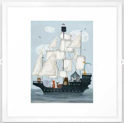 a nautical adventure Framed Art Print 22x22 - Society6