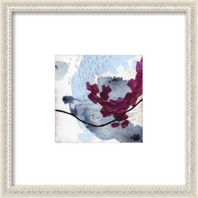 """No. 6 - 8 x 8 - Contemporary -  Ornate - Antique White Wood, frame width 0.8"""", depth 0.75"""" - Artfully Walls"""
