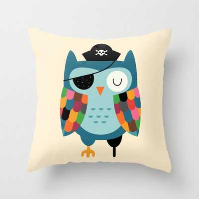 Captain Whooo Throw Pillow // 16x16 // Indoor - Society6
