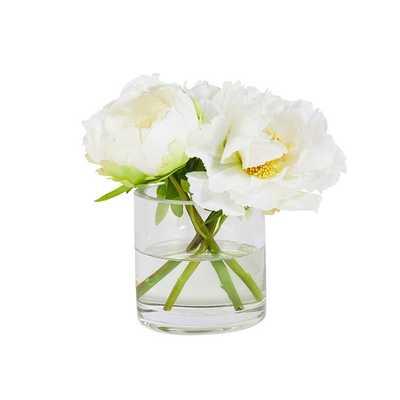 Faux White Peony Bouquet - Caitlin Wilson