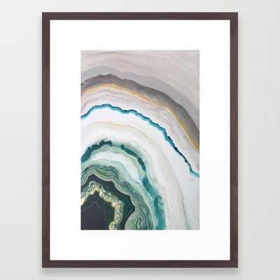 Green Agate #1 Framed Art Print - Society6