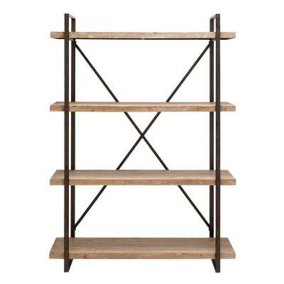 Hardwick Metal Wood Bookcase - Wayfair