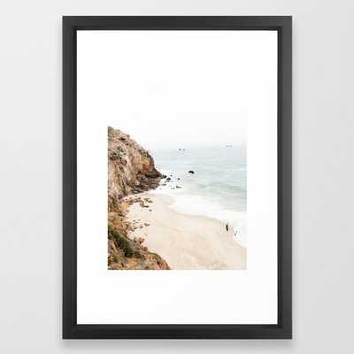 Malibu California Beach Framed Art Print - Society6