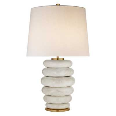 PHOEBE STACKED TABLE LAMP - ANTIQUED WHITE CERAMIC - McGee & Co.