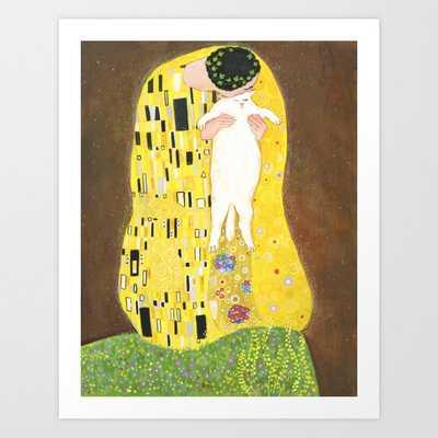 The kiss Art Print - Society6