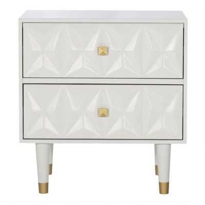 White Geometric Porter Nightstand - World Market/Cost Plus