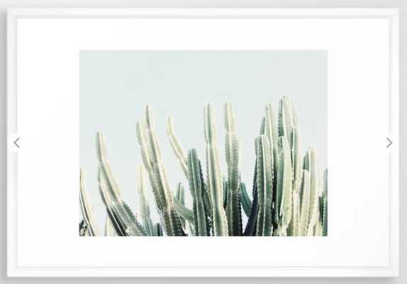 Desert Framed Art Print, Vector white - Society6