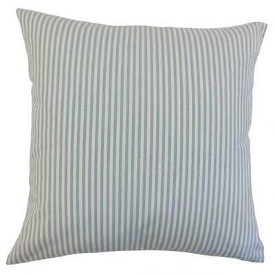 """Ira Stripes Pillow Aqua - 20"""" - Cover Only - Linen & Seam"""