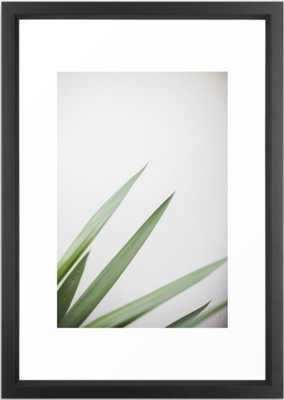 Plant Framed Art Print - 15 x 21 - Vector black frame - Society6