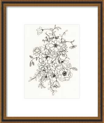 Ink Floral II 11x14 - Artfully Walls