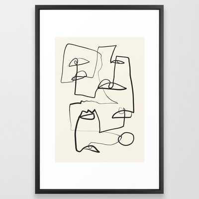 Abstract line art 12 Framed Art Print - Society6