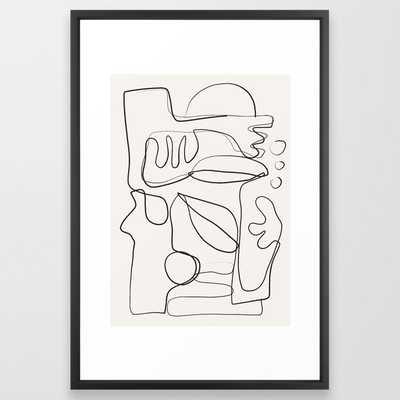 Abstract line art 10 Framed Art Print - Society6