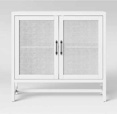 Warwick 2 Door Wood & Rattan Accent Cabinet - Threshold™ - Target