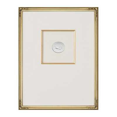 "Ballard Designs Intaglio in Gold Art  15"" x 12"" Print XI - Ballard Designs"