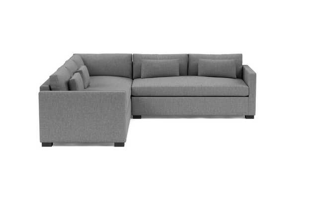 "Charly Corner Sectional Sofa - 122"" wheat cross weave - black - Interior Define"
