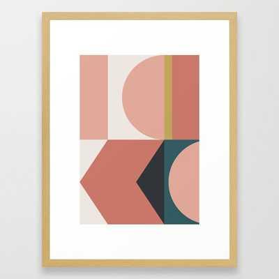 "Maximalist Geometric 02 Framed Art Print, 20x26"", Conservation Natural - Society6"