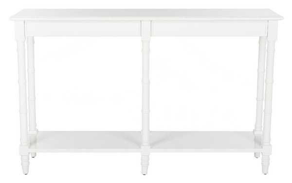 Noam Modern Coastal Bamboo Console Table - White - Arlo Home - Arlo Home