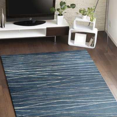 Soleia Hand-Tufted Azure Area Rug - Wayfair